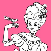 Coloriage PRINCESSE - Coloriage