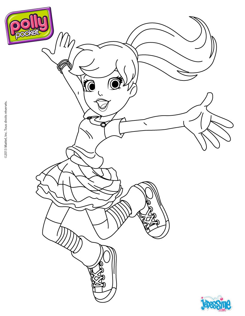 coloriage gratuit polly pocket