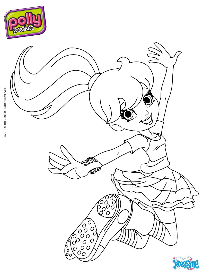 Coloriage à imprimer POLLY POCKET