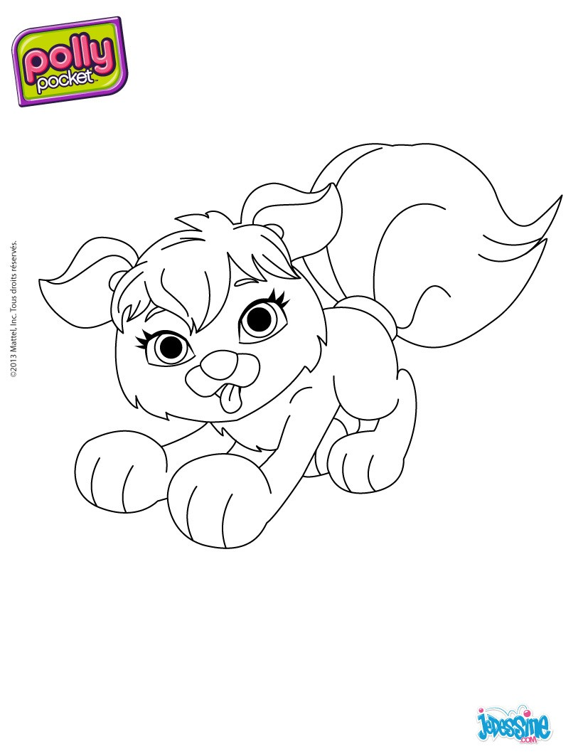 Coloriages coloriage du chien de polly - Coloriage polly pocket ...