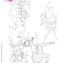 Coloriage Barbie danse
