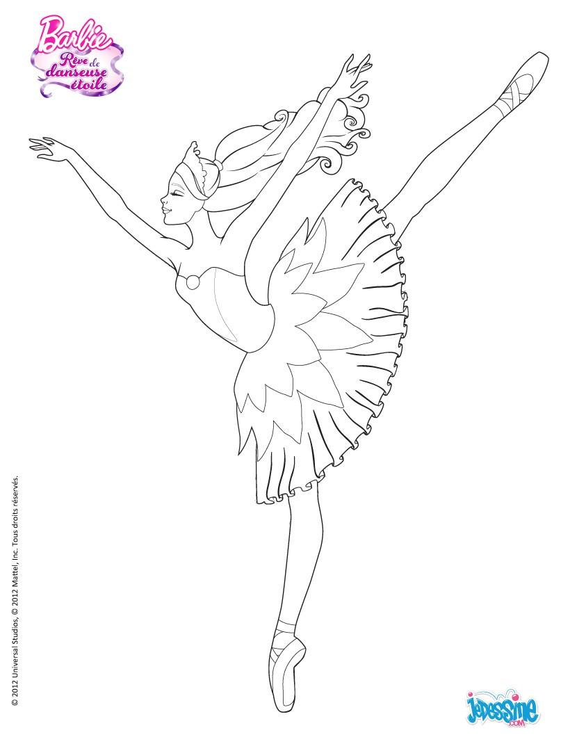 Coloriage204 coloriage danseuse toile - Coloriage de barbie ...