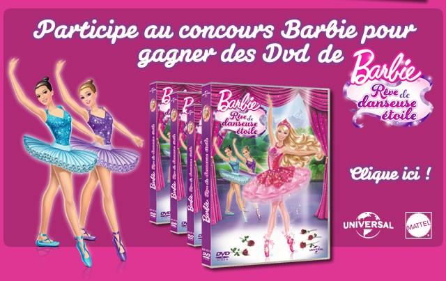 Viens t'amuser avec BARBIE Rêve de danseuse étoile !