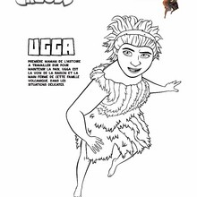 Coloriage UGGA - Coloriage - Coloriage FILMS POUR ENFANTS - Coloriage LES CROODS