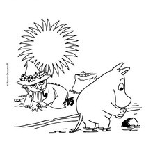 Coloriage gratuit MOOMIN - Coloriage - Coloriage PERSONNAGE BD - Coloriage MOOMIN