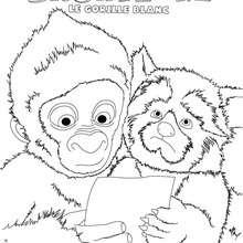 SNOWFLAKE à imprimer - Coloriage - Coloriage FILMS POUR ENFANTS - Coloriage SNOWFLAKE LE GORILLE BLANC