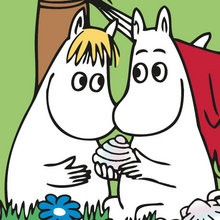 Coloriage MOOMIN - Coloriage PERSONNAGE BD - Coloriage