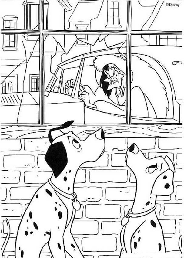 Coloriages coloriage cruella - Coloriage 101 dalmatiens ...