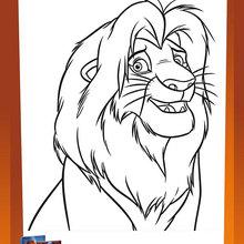 Coloriage gratuit ROI LION
