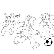 Coloriage gratuit FRANKLIN - Coloriage - Coloriage DESSINS ANIMES - Coloriage FRANKLIN