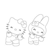 Coloriage à imprimer HELLO KITTY - Coloriage - Coloriage HELLO KITTY