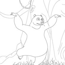 Coloriage gratuit BALOO - Coloriage - Coloriage DESSINS ANIMES - Coloriage LIVRE DE LA JUNGLE 3D