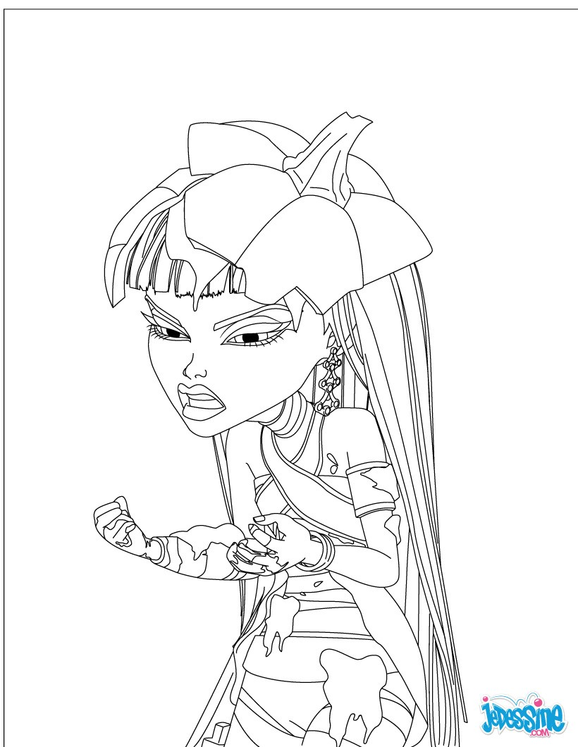 Coloriage gratuit MONSTER HIGH
