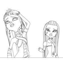 MONSTER HIGH à colorier - Coloriage - Coloriage DESSINS ANIMES - Coloriage MONSTER HIGH