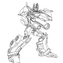 Coloriage gratuit TRANSFORMERS