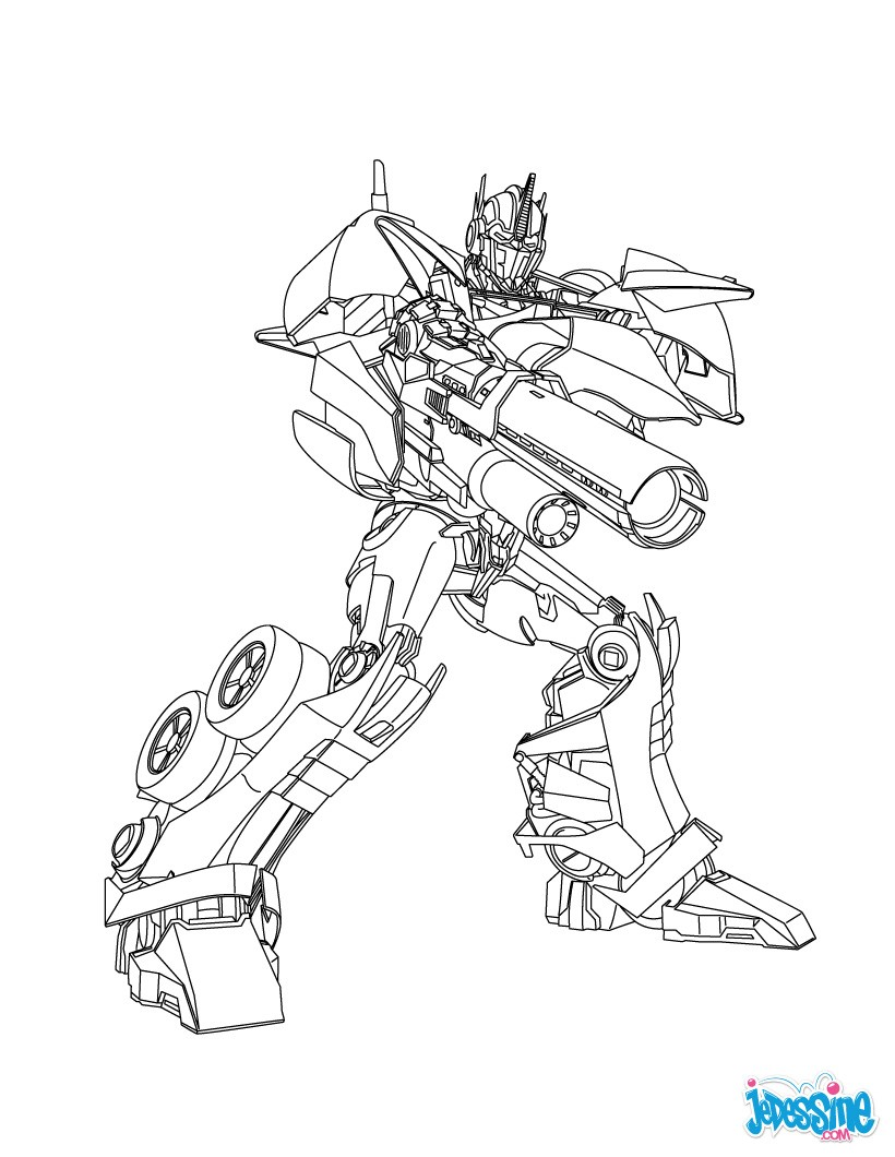 Coloriages coloriage gratuit transformers - Dessin anime transformers ...