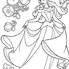 Coloriage Disney : Coloriage gratuit BELLE au BOIS DORMANT