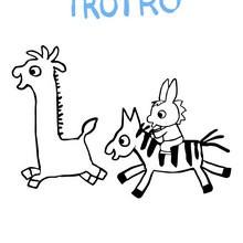 Coloriage gratuit TROTRO - Coloriage - Coloriage PERSONNAGE BD - Coloriage TROTRO