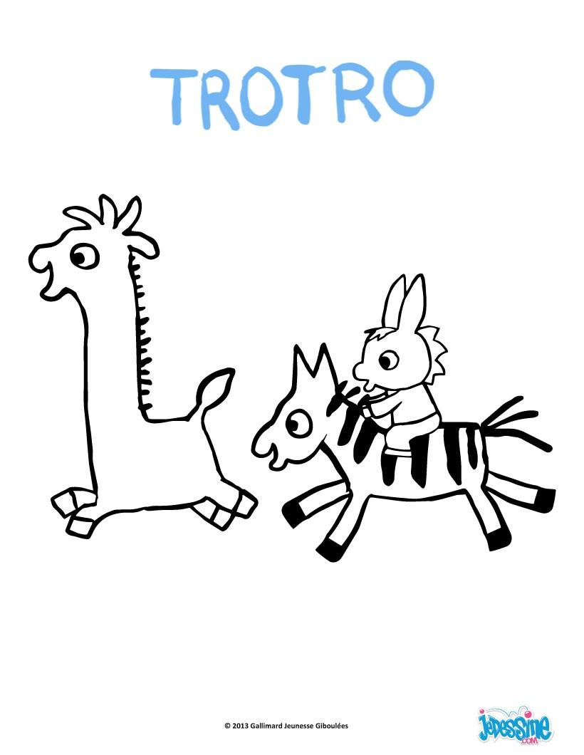 Coloriages coloriage gratuit trotro - Jeux de trotro ...