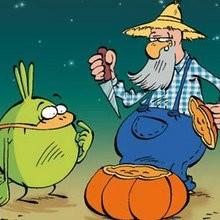 Planche de BD : La citrouille d'Halloween