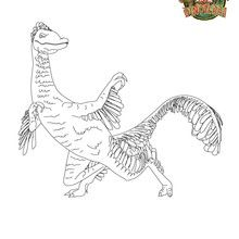 Coloriage dinosaure : MISS T