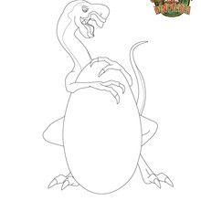Coloriage oviraptor : OVI