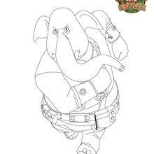 Coloriage éléphant : KARA