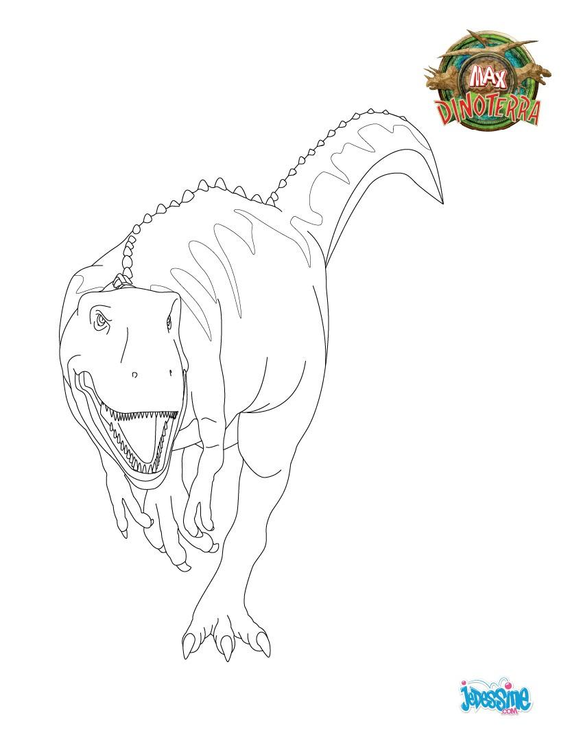 Coloriages coloriage tyrannosaure le roi - Dessin de tyrannosaure ...