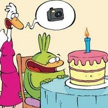 La photo d'anniversaire - Lecture - BD pour enfant - Le Piou, l'oiseau le plus idiot de tous - Le Piou : IDIOT D'OISEAU