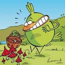 Le champignon - Lecture - BD pour enfant - Le Piou, l'oiseau le plus idiot de tous - Le Piou : IDIOT D'OISEAU