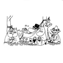 MOOMIN à colorier - Coloriage - Coloriage PERSONNAGE BD - Coloriage MOOMIN
