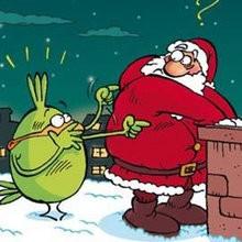 Planche de BD : Petit Piou-Piou Noël