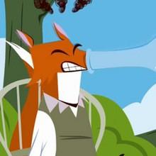 Dessin animé : Le Renard et la Cigogne