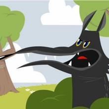 Dessin animé : Le loup et l'agneau