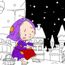 Coloriage gratuit conte la reine des neiges