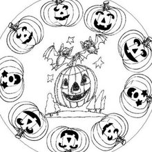 MANDALAS Halloween - Coloriage MANDALA - Coloriage