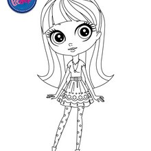 PET SHOP à colorier - Coloriage - Coloriage LITTLEST PET SHOP