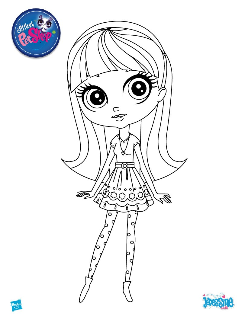 Coloriages pet shop colorier for Littlest pet shop zoe coloring pages
