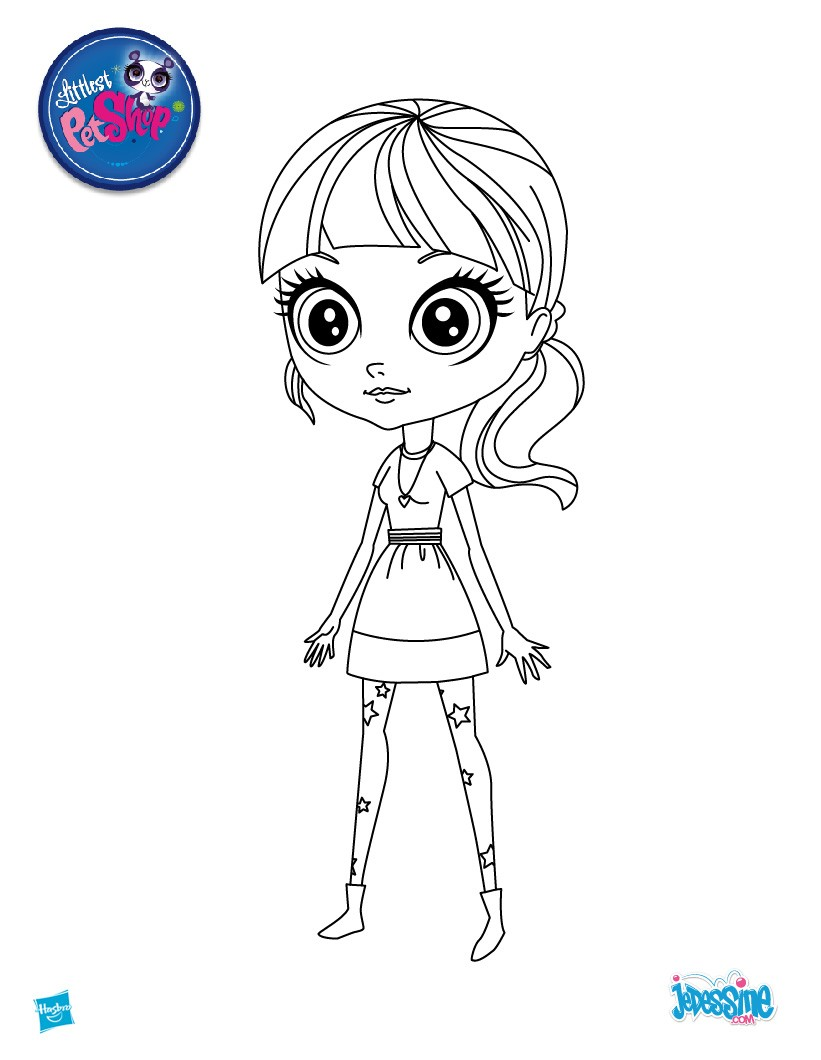 Coloriages coloriage blythe for Littlest pet shop zoe coloring pages