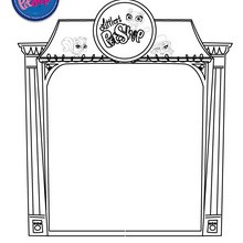 Décor de PET SHOP à colorier - Coloriage - Coloriage LITTLEST PET SHOP