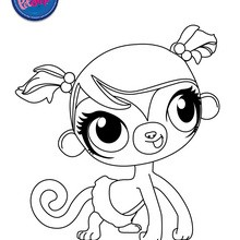 Coloriage MINKA MARK - Coloriage - Coloriage LITTLEST PET SHOP
