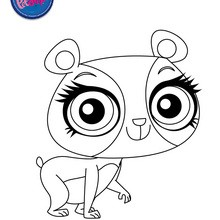 Coloriage PENNY LING - Coloriage - Coloriage LITTLEST PET SHOP