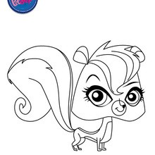Coloriage PEPPER CLARKE - Coloriage - Coloriage LITTLEST PET SHOP