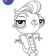 Coloriage VINNIE TERRIO - Coloriage - Coloriage LITTLEST PET SHOP