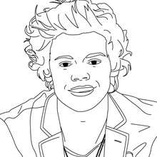 Coloriage Harry Styles des 1D - Coloriage - Coloriage DE STARS - Coloriage ONE DIRECTION