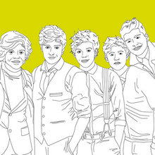 Coloriage ONE DIRECTION - Coloriage DE STARS - Coloriage