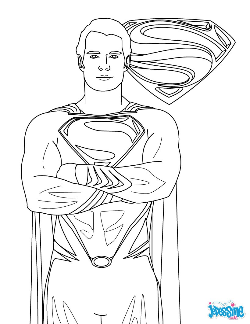 Jor El Coloriage Superman et son blason
