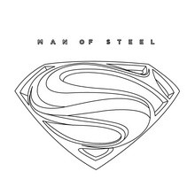 Coloriage : Superman Man of steel