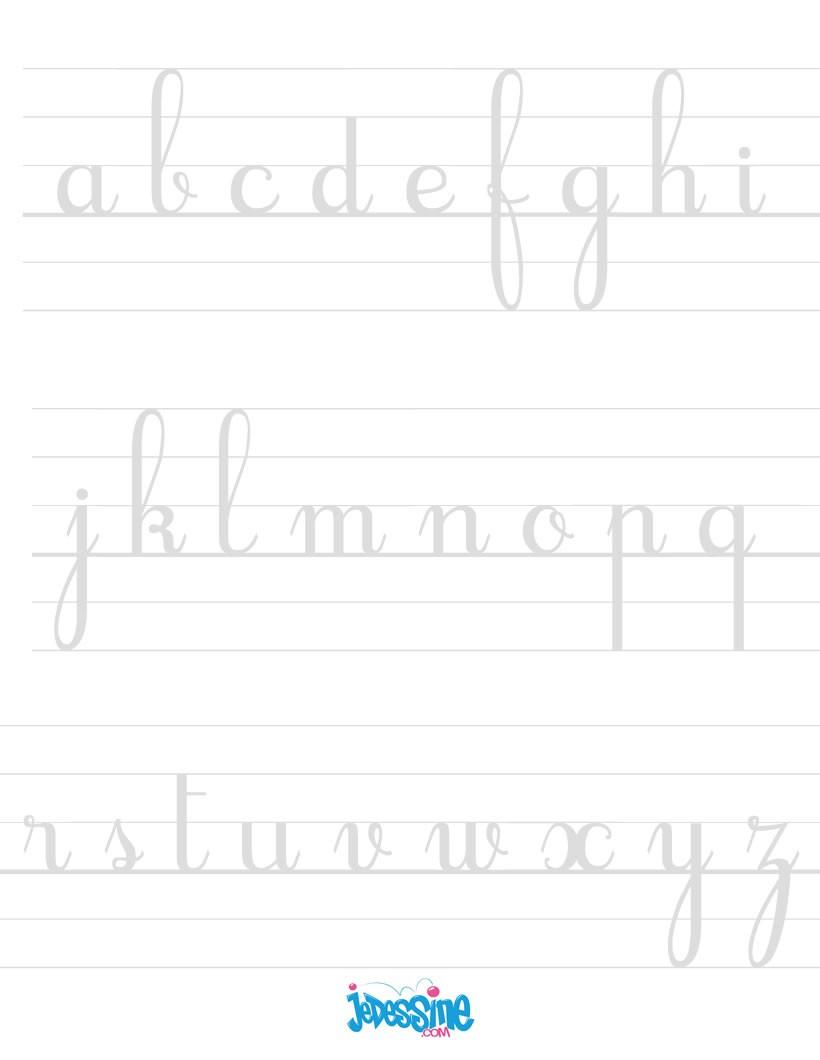 Comment dessiner ecrire les lettres cursives en minuscules - Dessiner l alphabet ...
