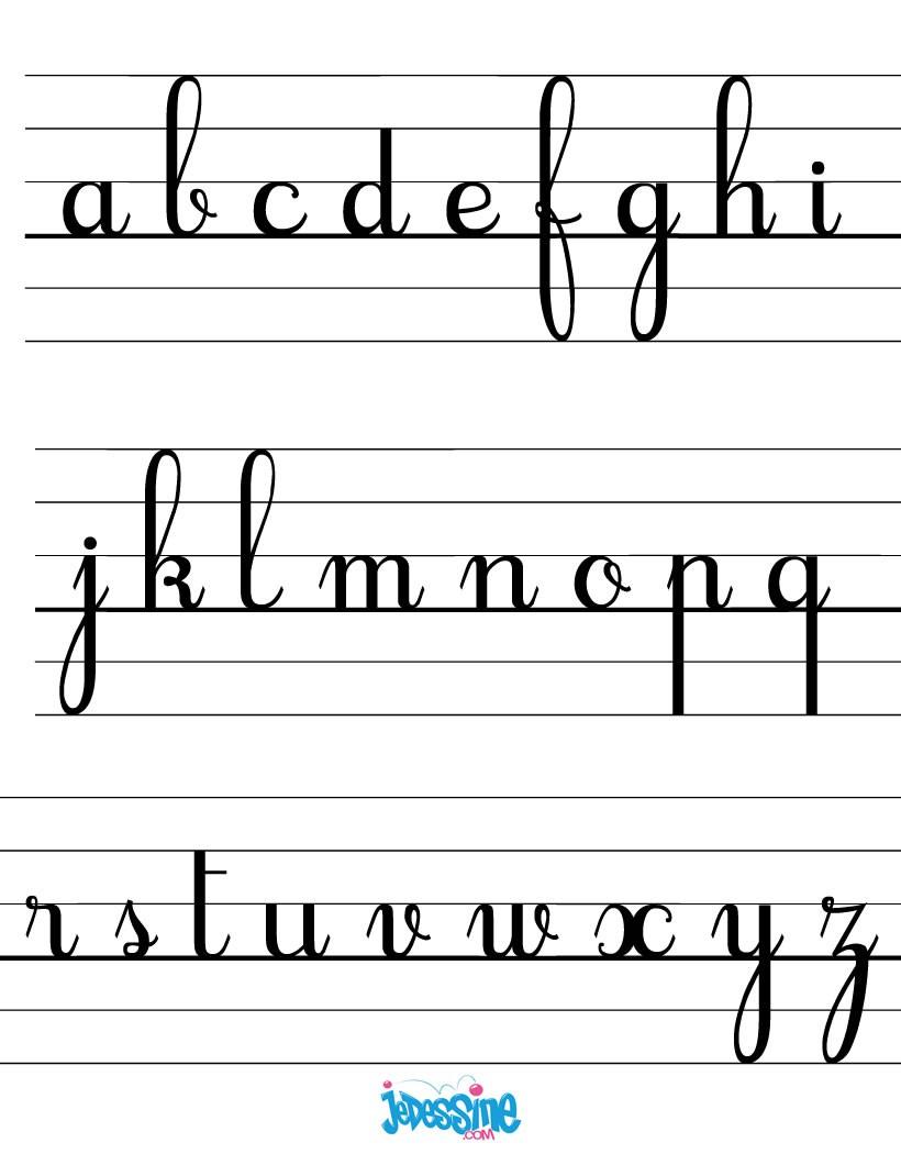 Comment dessiner les lettres cursives minuscules - Lettres a imprimer ...